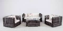 synthetic rattan weave sofa set