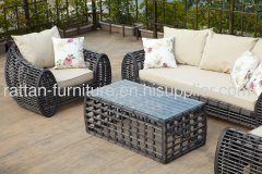 2013new design outdoor garden furniture round wicker sofa