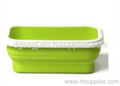 silicone lunch and snack box