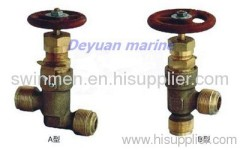 marine male thread bronze stop check valve