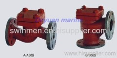 marine flange cast iron check valve