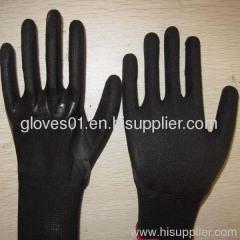 black latex coated working gloves LG1507-1
