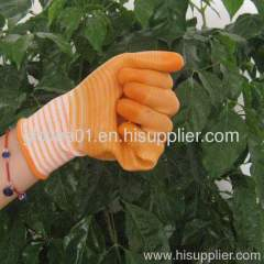 yellow PVC coated working gloves PG1511-3
