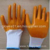 yellow PVC coated working gloves PG1511-5