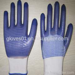 blue PVC coated working gloves PG1511-12