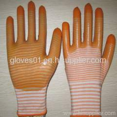 yellow PVC coated working gloves PG1511-13