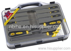 TOP CRAFT 9pcs superior quality Multi porpose steel file set