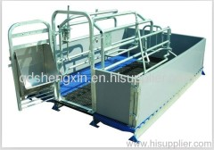 Farrowing galvanized pipe crates