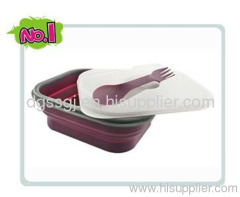 silicone handy lunch box
