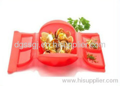 FDA and LFGB approved silicone lunch box