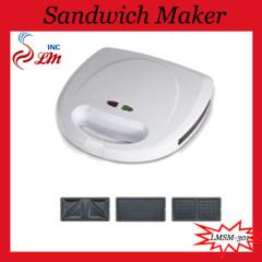 3 In 1 Interchangeable Sandwich Maker