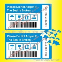 security bar code labels