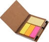 Recycle paper notebook with sticky notes and Eco ballpen