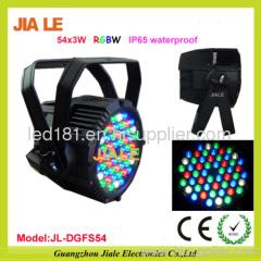 54*3w RGBW led par lighting waterproof led par light