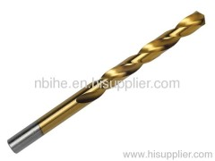 DIN338 HSS STRAIGHT SHANK TWIST DRILL BIT Tin-coated