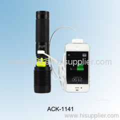 2 in 1 500LM power style police T6 XML torch W/ iphone 4s /5 charger ACK-1141 (6618)