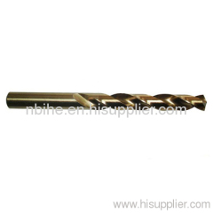 HSS cobalt twist drill bits fully ground amber DIN338