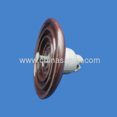 Suspension porcelain insulator