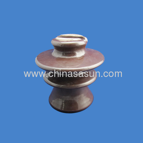 Porcelain pin Insulator Brown