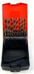 19pcs HSS M35 Cobalt TwistDrill Bits set with plastic box