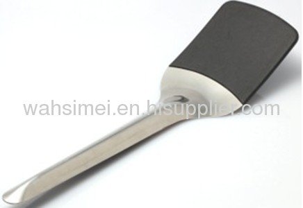 Food grade silicone shovels with stainless stick handle