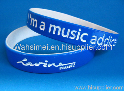printed silicone wristband wholesale