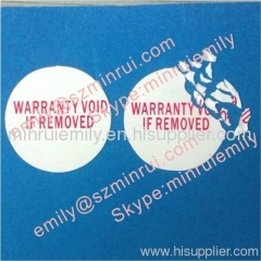 round warranty void if removed stickers