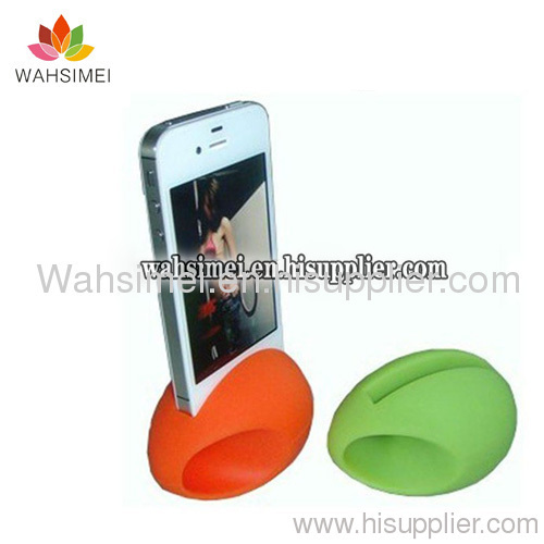 silicone stand iphone horn