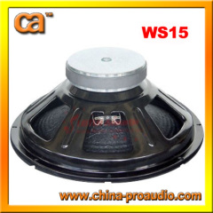 15inch steel frame clear and smooth voice audio woofer