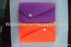 stylish silicone women hand wallet