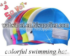 colorful silicone swimming hat
