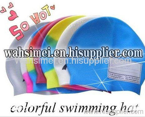 Children silicone swim cap for smaller junior swimmers