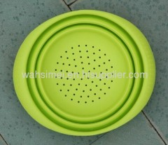 Foldable silicon kitchen strainer soup spoon