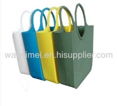 Silicone purses and handbags in various styles