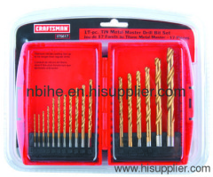 CRAFTSMAN 17Pcs titanium hss drill bit set plastic case