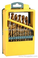 ANSI standard HSS Twist Drill Set in Windows Metal Case