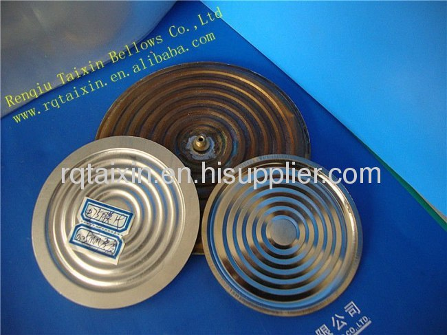 Stainless steel and brass diaphragm capsule for pressure