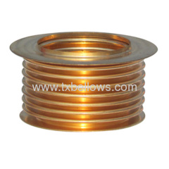 Bronze bellows for valve component