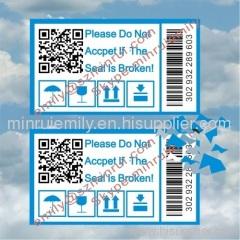 tamper proof seal QR code labels
