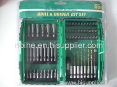 66pcs Combination mix Drill and screwdriver bit Set