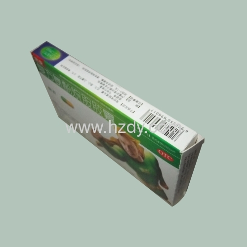 White card paper box for cold medication