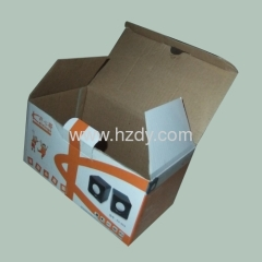 Corrugated paper box for sounder