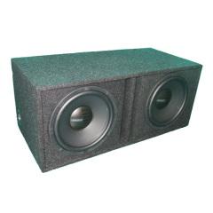 High efficiency dual car speaker cabinets