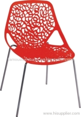 Luxury Hollow red leisure Chair office reception dining room furniture side chairs