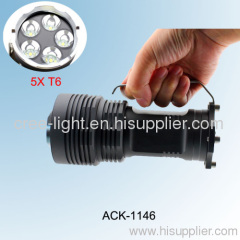 2500lumen 5X CREE XML T6 Future Flashlight ACK-1146