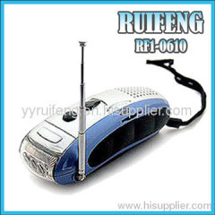 emergency light with fm radio/dynamo emergency light radio