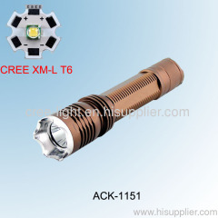 10W CREE XML T6 High Power Flashlight With Charger ACK-1151