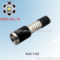 10W CreeXML T6 Stainless Steel Mini Torch ACK-1153