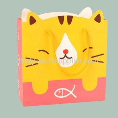 Cat shape paper bag for shopping