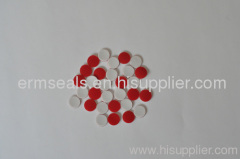 Red PTFE/White Silicone Septa 9×1mm